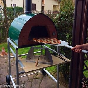 Pizza Party Oven Green support With Wheels Glassdoor 2 Pizza Peel Spacesave