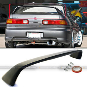 Fit 94 01 Integra 2dr Type R Unpainted Black Rear Trunk Hatch Spoiler