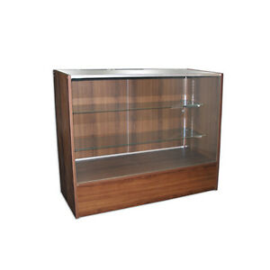 4 Cherry Wooden Knockdown Showcase 18 d X 38 h X 48 l