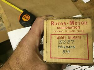 Antique Vintage Rotometer Twin Shaft Heater Air Conditioner Motor