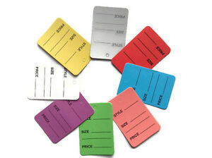 8 Color 2000 Pc One Part Price Coupon Tag Clothing Price Tagging Gun Hang Label