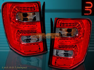 99 04 Jeep Grand Cherokee Led Tail Lights Led Red Smoke 99 00 01 02 03 04