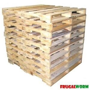 10 Recycled Wood Pallet 48 X 40 4 way Wood Pallets