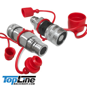 Tl36 Flat Face To Ag Style Hydraulic Quick Connect Coupler Adapter Set Pioneer