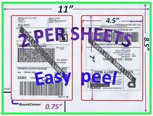 1000 Pro Office Shipping Labels 7 0x4 5 rounded Corner blank Labels made In Usa