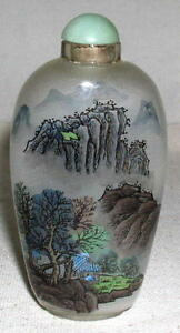 Chinese Internal Reverse Painted Snuff Bottle Early 20th Century