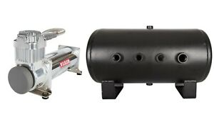 Viair 444c Truck Mount Air Compressor For Train Horns With 5 Gallon Tank 12v