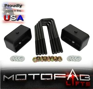 2 Rear Leveling Lift Kit For 2007 2019 Chevy Silverado Sierra Gmc Made In Usa