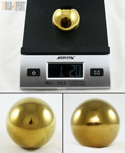 M10 X 1 5 Stainless Steel Heavy Weighted Gold Round Shift Knob Ball For Honda