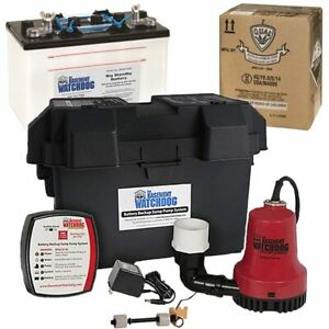 Basement Watchdog Emergency Backup Sump Pump 1000 Gph 10 Battery