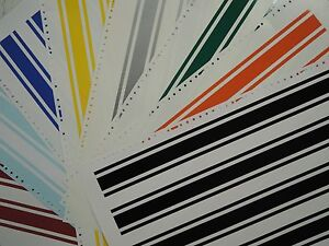 4 2 X 80 Vinyl Racing Stripes Pinstripe Decals Stickers 25 Colors Stripes
