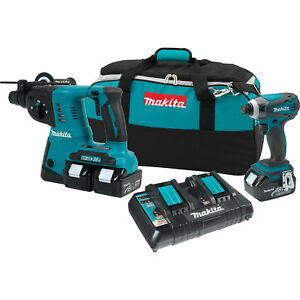 18v Lxt Lithium ion Cordless 2pc Combo Kit 3x 4 0ah Makita Xt258pm New