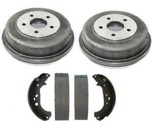Rear Brake Drums And Shoes Kit Set Fits 10 13 Ford Transit Connect