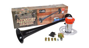 Hornblasters Musket Loud Electric Air Horn For Semi Or Large Truck Compact
