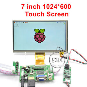 7 Inch 1024 600 Lcd Touch Screen Display For Raspberry Pi 4 B All Platform Pc