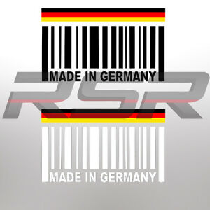 Made In Germany Barcode Sticker Decal Euro Audi Vw Bmw Porsche Deutschland