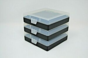 BERRY'S PLASTIC AMMO BOXES (3) CLEAR 100 Round 9MM  380