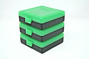 BERRY'S PLASTIC AMMO BOXES (3) ZOMBIE 100 Round 9MM  380