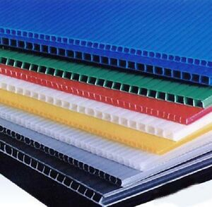 6mm 24 X 48 Black Or Clear Coroplast Corrugated Plastic Sheet 4pk