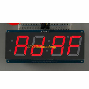 New Red 1 2 4 Digit 7 Seven Segment Led Display Iic For Arduino