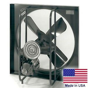 30 Exhaust Fan 3 Ph 2 Hp 16500 Cfm 1725 Rpm 230 460v 4 Blades Enclosed