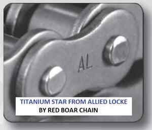 40 1r X 100ft Titanium Star Roller Chain By Allied Locke With 10 Links