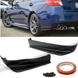Fit 15 18 Impreza Wrx Sti 2pc Aero Style Rear Bumper Lip Cap Apron Spats Add On