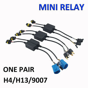 Easy Relay Harness For H4 H13 9007 Hi Lo Bi Xenon Hid Bulbs Wiring Controller