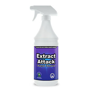 Extract Attack Carpet Cleaner Spray Organic Carpet Cleaning Solution 32oz