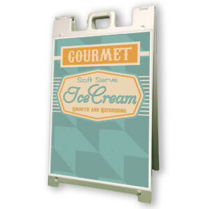 Soft Serv Ice Cream Sidewalk A Frame 24 x36 Concession Stand Outdoor