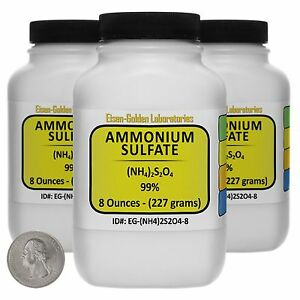 Ammonium Sulfate nh4 2so4 99 Acs Grade Powder 1 5 Lb In Three Bottles Usa