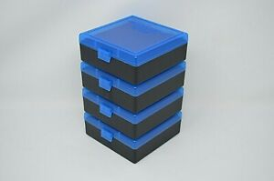 BERRY'S PLASTIC AMMO BOXES (4) BLUE 100 Round 38  357