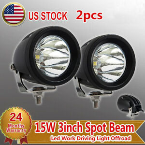 2x 3 15w Led Work Light Spot Fog Driving Lamp Offroad Motorcycle Atv 4x4 4wd