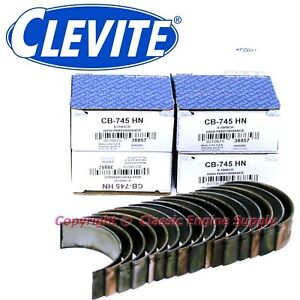 New Clevite H Series 020 Under Size Rod Bearing Set 327 302 283 265 Chevy Sb