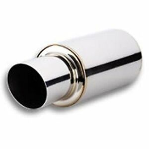 Vibrant Tpv Universal 3 Stainless Steel Round Muffler 4 Angle Tip 1061