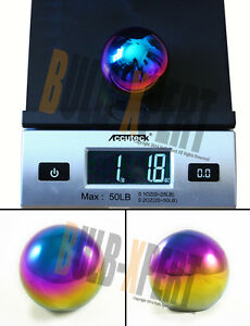 M12 X 1 25 Stainless Steel Heavy 1lb Neo Chrome Round Ball Shift Knob For Subaru
