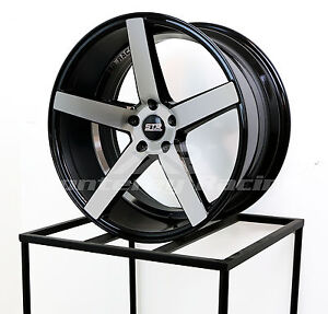 20x9 5x120 Str 607 Black Machine Face Bmw Chevy Camaro Chrysler