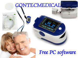 Fingertip Pulse Oximeter 24h Recorder spo2 Blood Oxygen Puls Monitor pc Software