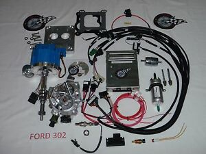 Ford Fuel Injection System Complete Tbi For Stock Small Block Ford 302 5 0l Efi