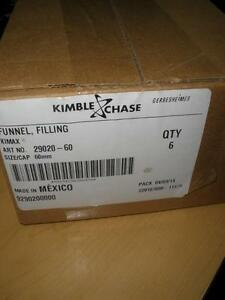 Kimble Chase Life Science 29020 60 Funnel 60mm 24 Cs 6 Pk New