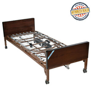 Drive Medical 15033 Delta Ultra Light Full Electric Bed Frame Only brown