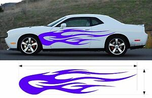 Vinyl Graphic Flames Decal Car Truck Boat Kit Custom Size Color Variation Mt 151