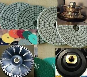 3 4 Full Bullnose V20 Router 16 Pad 5 Inch Turbo Concave Convex Blade Stone