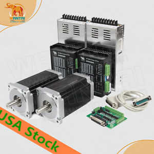 Eu uk usafree 2axis Nema34 Stepper Motor 1090oz in driver 5 6a Cnc Router Kit