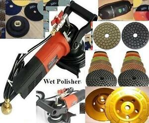 Wet Concrete Granite Polisher Polishing 40 Pad 5 Buff 4 Cup Stone Concrete Floor
