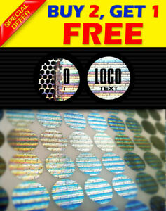 648 Custom Print Hologram Warranty Security Sticker Label Void Seals 0 55 Inch