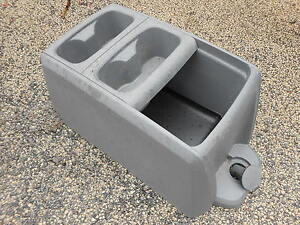 08 12 Dodge Caravan Chrysler Town Country Center Console Van Gray Cup Holder