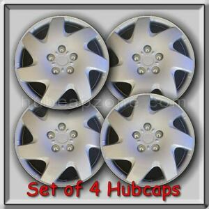 4 15 Silver Hubcaps Fits 1998 1999 Nissan Altima Hub Caps Altima Wheel Covers