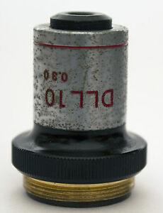 Nikon 10x 0 30 160 Ph1 Dll Microscope Objective Phase Contrast 10