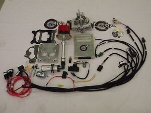 Efi Complete Tbi Fuel Injection Conversion For Stock Sbc 350 5 7l W Msd Coil